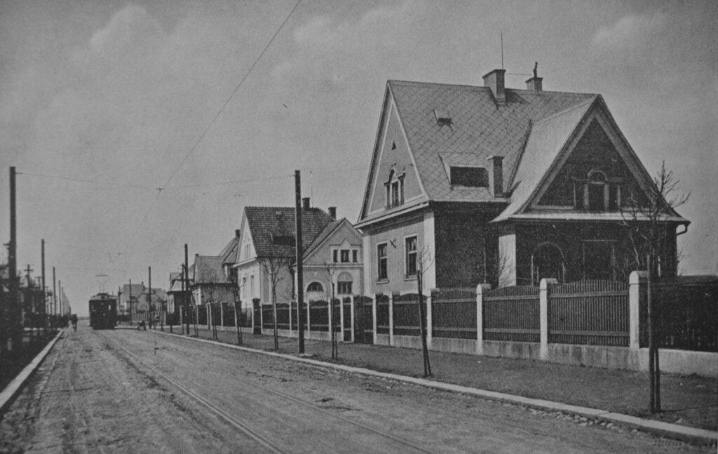 Zábřeh-Družstvo, dnešní Rudná ulice v roce 1931.