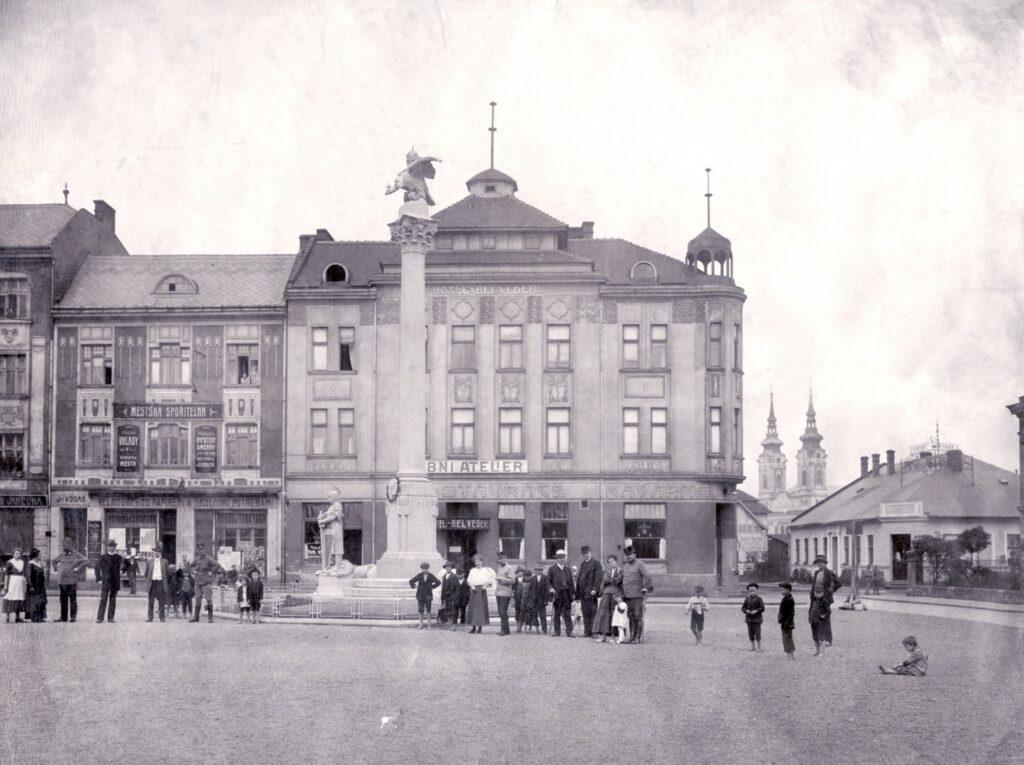 Mariánské náměstí v roce 1916.